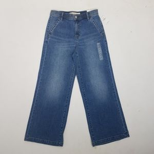 Gap 1969 Hi Rise Wide Leg Trousers Sz 26 Blue G8